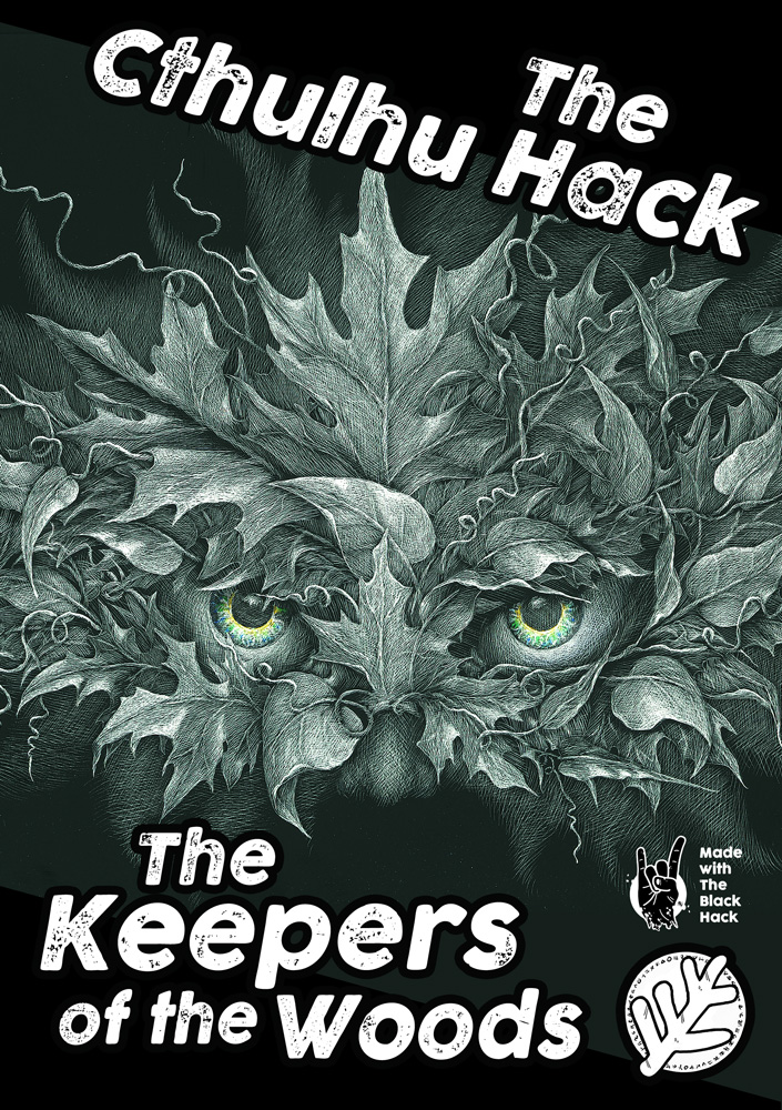 Cover of The Keepers features eyes peering through a mask of leaves
