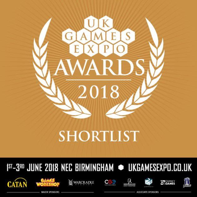 Bronze coloured UK Games Expo Awards 2018 Shortlisted Game logo